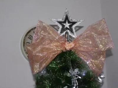 Diy Christmas bow! Fundite handmade ! Lazitos Navidad