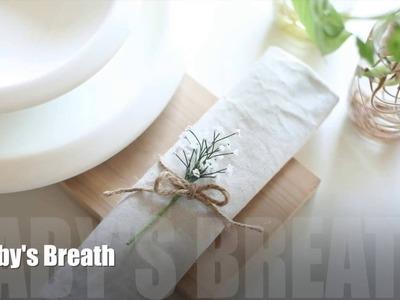 [DIY Crepe paper] Baby's breath