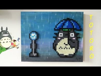 DIY Totoro Bus Stop Scene Perler Bead Panel Art