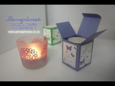 Four Tea Lights Box | Stampin' Up (UK) on Spiritual Sundays with Persephone's Papercraft