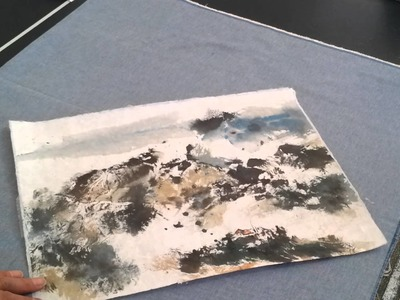 How to Flatten Crinkled Rice Paper Painting with Silicone Dry Mounting Paper