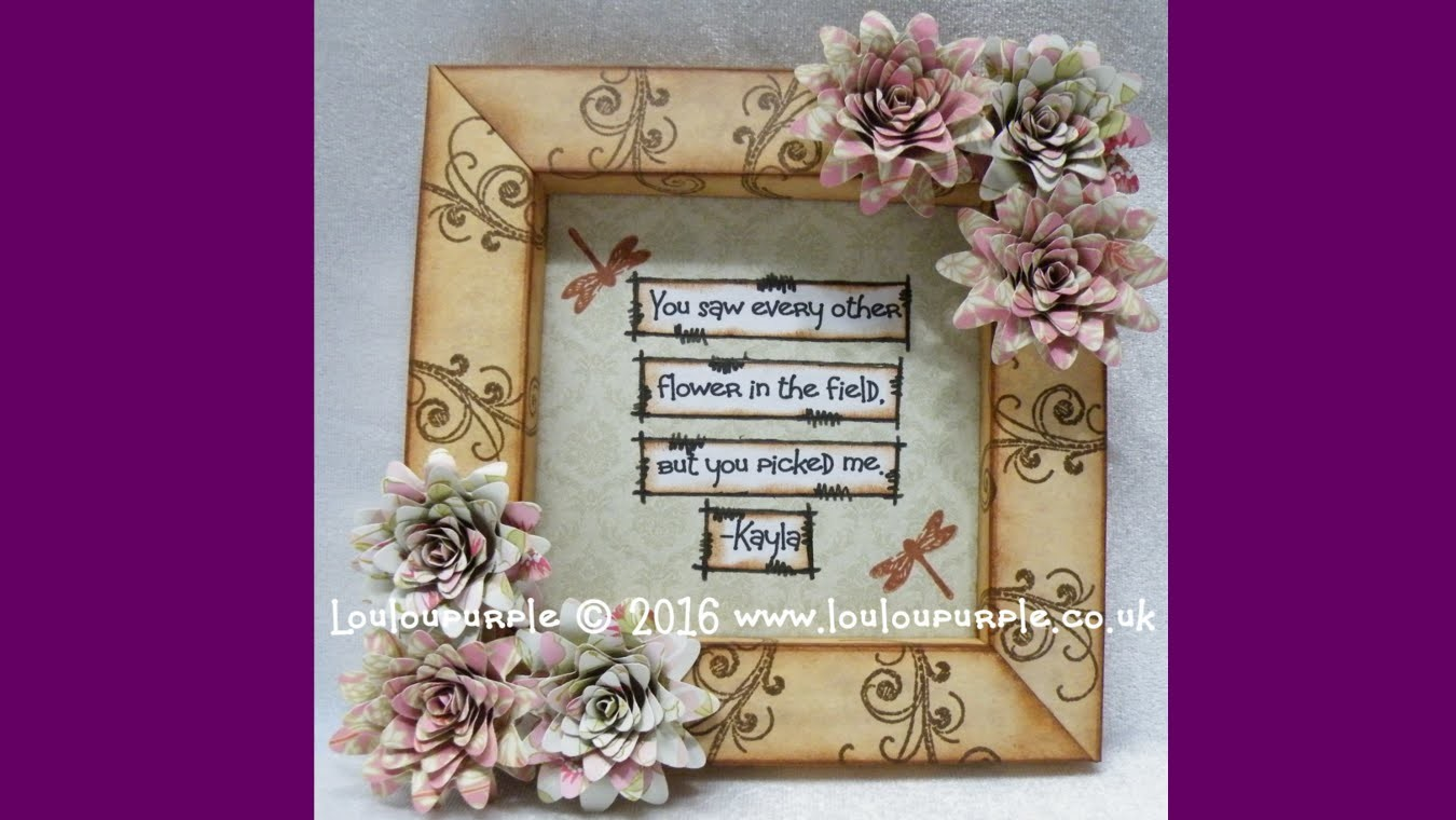 How to make a shadow box.