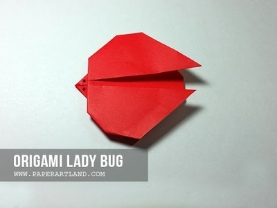 How to Make an origami Lady Bug