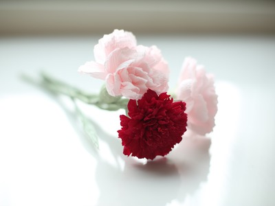 How to make paper flowers #.Carnation FREE! SO EASY!!