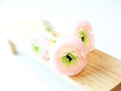 How to make paperflowers (crepe paper) #1.making Ranunculus
