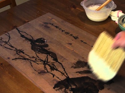 Lesson 49 Appendix: Wet Mounting Chinese Painting on Rice Paper
