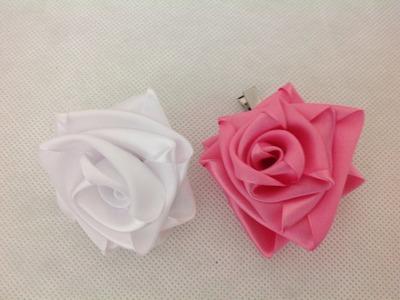 May 18, 2015 rosa mágica com fita de cetim para tiara, faixas etc.