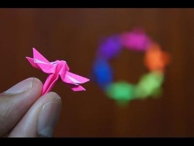 Mini Origami - How to make Mini Dragonfly Origami