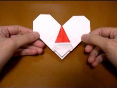 Origami Santa and heart