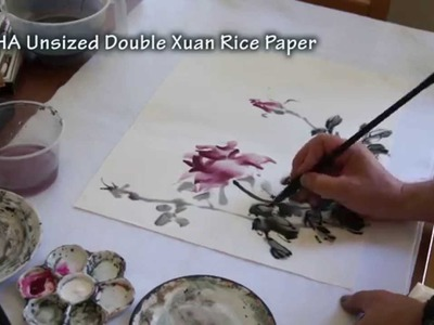 Painting Live Roses on Double Xuan Chinese Rice Paper(1.2)