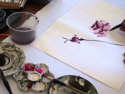 Painting Live Roses on Double Xuan Chinese Rice Paper(2.2)