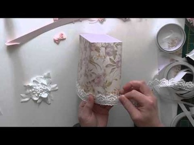 Paper and lace handbag tutorial inspired by Jayne Davies