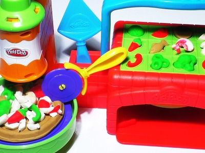 Play-Doh PIZZERIA Doh Pizza Cooking Games Kitchen Toys Playdough Food Kids Fun Toys