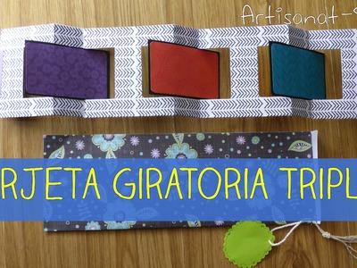 Tarjeta Giratoria Triple [triple revolving card] DIY-How to
