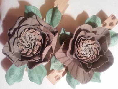 ~{Wild Rose paper flower}~ video tutorial by Stampin' Up! Demonstrator Ruth Trice