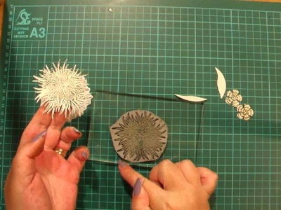 17. Basic - How to Use Matching Grey Rubber Stamp and Die Cutting Sets