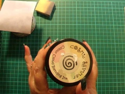 36. How to use Cosmic Shimmer Colour Cloud to Ink, Blend & Rubber Stamp