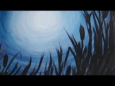Acrylic Painting - Morning Light Silhouette