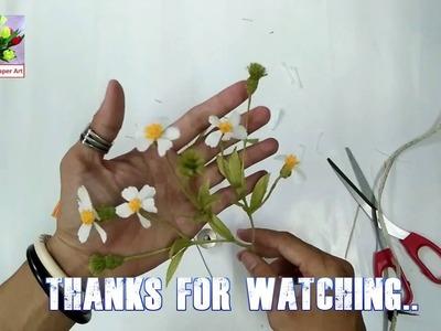 D.I.Y - How to make paper wild chrysanthemum - Làm hoa xuyến chi bằng giấy nhún