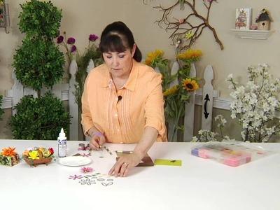 Designing in Susan's Garden with Sizzix Thinlits Gazania Flower Set