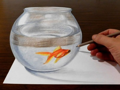 Drawing a Goldfish Bowl - Optical Illusion Trick Art