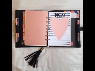 Filofax set up with lots of DIYs filofax setup *Please see description for how to get inserts!