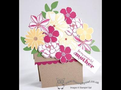 Flowerpot Card using Stampin' Up! Secret Garden Stamps and Framelits