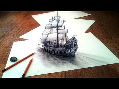 How to Draw a 3D Optical Illusions on paper step by step