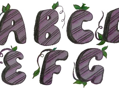 How to draw and decorate Graffiti Alphabets
