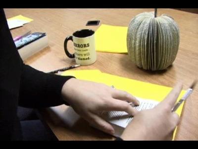 How to Make a Book Pumpkin