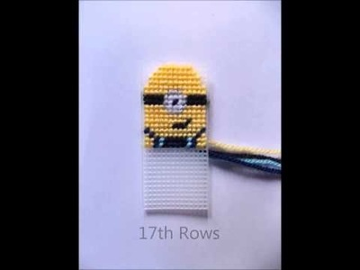 How to make a Plastic Canvas Minion Keyring