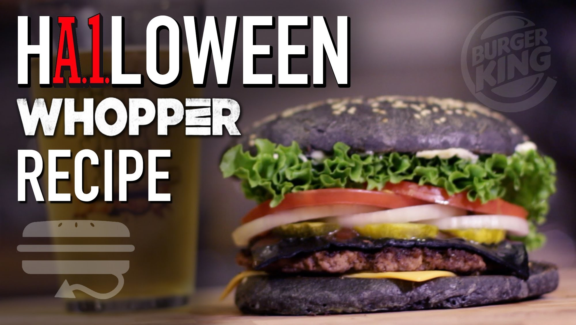 HOW TO MAKE Burger King     A.1. Halloween Whopper Copycat Recipe     HellthyJunkFood