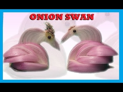 How to make | Carved Onion Swan | Art Carving Fruits and Vegetables
