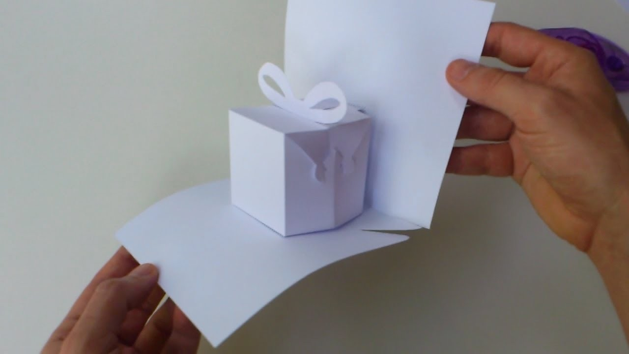 instructions: blank manual cutting template for birthday present