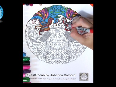 Lost Ocean by Johanna Basford Adult Coloring Book Mermaids Page #lostocean - Family Toy Report