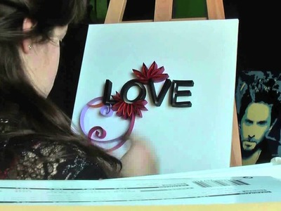 LOVE~quilling technic (speed video)