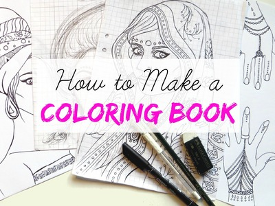 Making a Coloring Book || India Art Speed Drawing