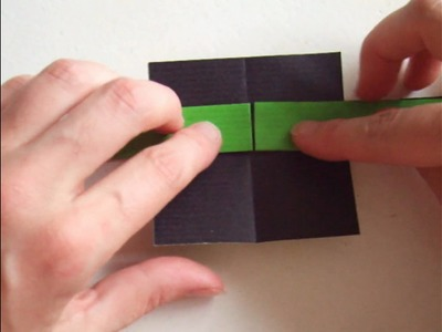 Origami - modular - action origami - moving lizard - tutorial - dutchpapergirl