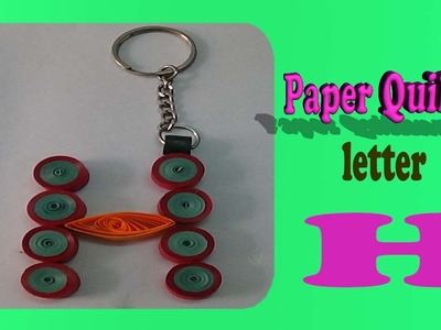 Paper quilling keychain-H