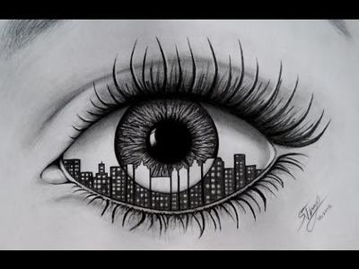 Realistic Eye - Speed Drawing