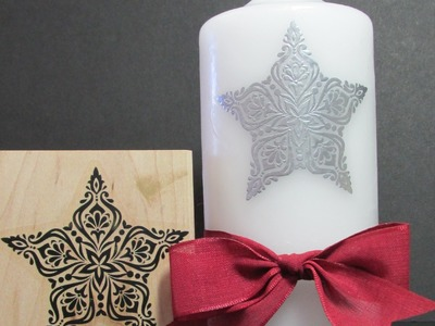 Stampin' Up! Rubber Stamp Technique A Candle