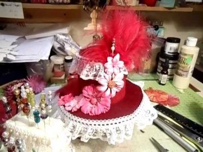 Vintage Ladies Top Hat & Step Pin Cushion - jennings644