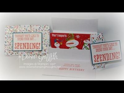 B.Y.O.P gift card holder with Dawn