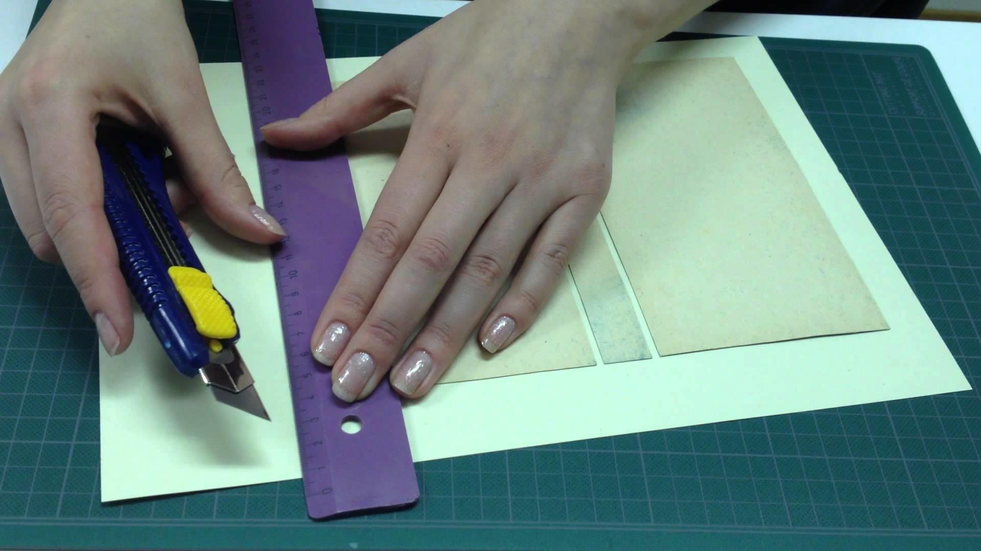 Buch-Schatulle. DIY. Teil 1.2. Anna's Papier