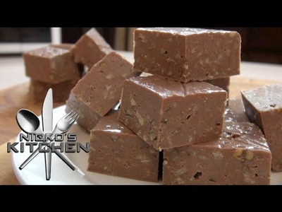 CHOCOLATE FUDGE (In 90 seconds) - 3 Ingredients