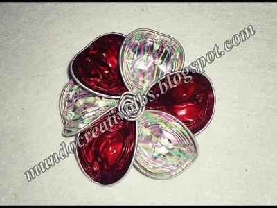 DIY: broche con forma de flor *018*