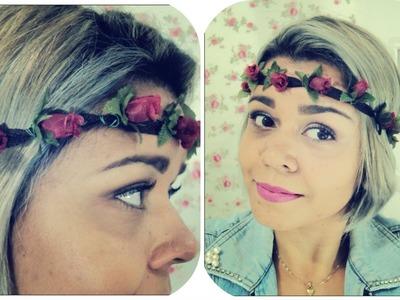 DIY-  Tiara de flor (Headband)
