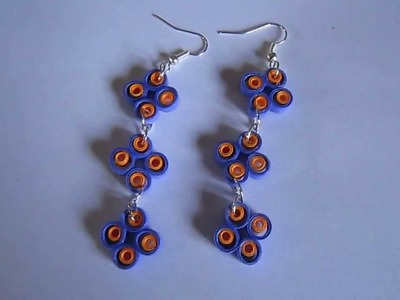 Handmade Jewelry - Paper Quilling Earrings (Not Tutorial)