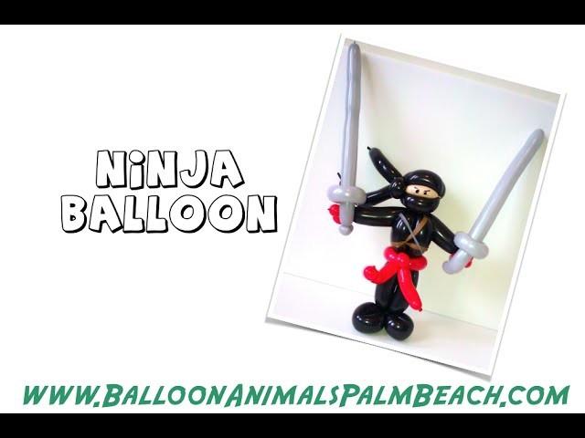 How To Make A Ninja Balloon - Balloon Animals Palm Beach