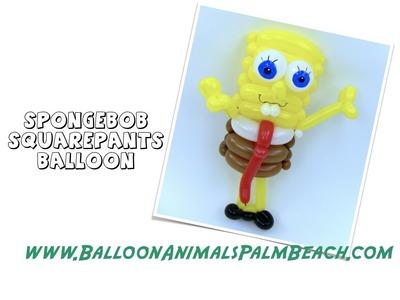 How To Make A Spongebob Squarepants Balloon - Balloon Animals Palm Beach